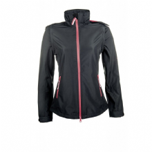 HKM REGENSBURG SOFTSHELL JACKET - BLACK/RASPBERRY - RRP £49.99
